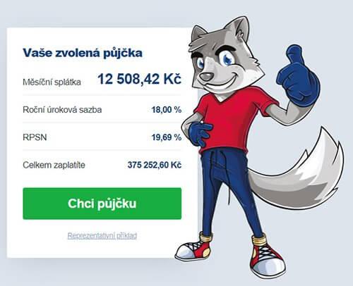 reprezentativní příklad půjčky 300 000 Kč na 30 měsíců